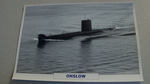 1968 Onslow Australian submarine warship framed picture
